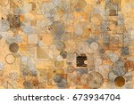 abstract grunge   rough ... | Shutterstock . vector #673934704
