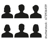 silhouettes of men and women on ... | Shutterstock .eps vector #673936459