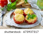 stuffed tomatoes. tomatoes...   Shutterstock . vector #673937317