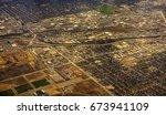 aerial veiw of a suburb area... | Shutterstock . vector #673941109