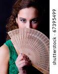 an young beautiful woman close... | Shutterstock . vector #67395499