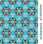 arabic floral seamless pattern. ...   Shutterstock .eps vector #673955545