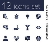 set of 12 strategy icons set... | Shutterstock .eps vector #673955791