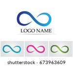infinity symbols and logo  | Shutterstock .eps vector #673963609