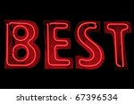 neon sign showing word 'best' | Shutterstock . vector #67396534