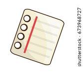 cute note sheet   Shutterstock .eps vector #673968727