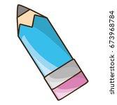 wooden pencil utensil   Shutterstock .eps vector #673968784