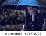asian women are using umbrellas ... | Shutterstock . vector #673970779