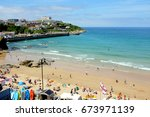 newquay  cornwall  uk. july 02  ... | Shutterstock . vector #673971139