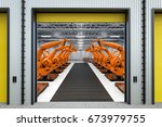 3d rendering robot arms with... | Shutterstock . vector #673979755