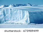 antarctica  weddell sea  riiser ... | Shutterstock . vector #673989499