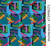 endless abstract pattern.... | Shutterstock .eps vector #673998271