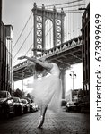 elegant ballet dancer woman... | Shutterstock . vector #673999699