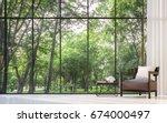 Modern Living Room With Garden...