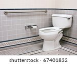 handicap bathroom with grab... | Shutterstock . vector #67401832