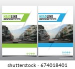 abstract vector modern flyers...   Shutterstock .eps vector #674018401