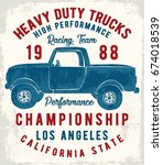 vintage pick up illustration ... | Shutterstock .eps vector #674018539