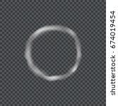a realistic circle of smoke on... | Shutterstock .eps vector #674019454