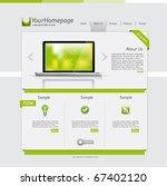 clean website design with... | Shutterstock .eps vector #67402120