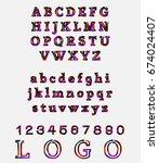 modern alphabet | Shutterstock .eps vector #674024407