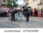 cracow  poland   july 5  2017 ... | Shutterstock . vector #674029489