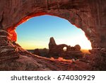 north and south window arch at... | Shutterstock . vector #674030929