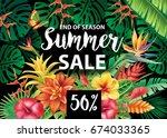 summer sale design  | Shutterstock .eps vector #674033365