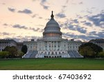 Stock photo capitol hill building closeup in the morning with colorful cloud washington dc 67403692