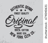 original hand written lettering ... | Shutterstock .eps vector #674040631