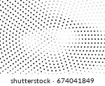 abstract halftone dotted... | Shutterstock .eps vector #674041849