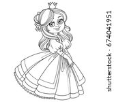 sweet girl princess with... | Shutterstock .eps vector #674041951