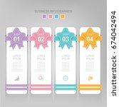 infographic template of four... | Shutterstock .eps vector #674042494
