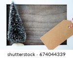 christmas card or background ... | Shutterstock . vector #674044339