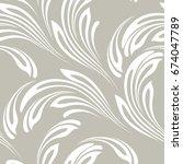 floral seamless pattern.... | Shutterstock .eps vector #674047789
