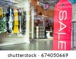 signage of sale in the shop... | Shutterstock . vector #674050669