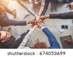 unity concept. close up of... | Shutterstock . vector #674053699