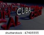 cuba tribute digitally rendered ... | Shutterstock . vector #67405555