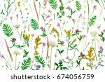 summer botanical concept ...   Shutterstock . vector #674056759