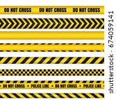 police line and do not cross... | Shutterstock . vector #674059141