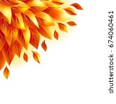 autumn background with fall...   Shutterstock . vector #674060461