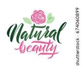 logo natural beauty vector...   Shutterstock .eps vector #674060899