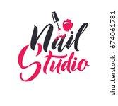 nail master logo beauty vector...   Shutterstock .eps vector #674061781
