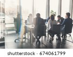 business people meeting... | Shutterstock . vector #674061799