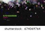 vector illustration of abstract ... | Shutterstock .eps vector #674069764