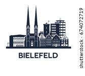 bielefeld skyline emblem | Shutterstock .eps vector #674072719