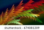 abstract fractal. decoration... | Shutterstock . vector #674081209