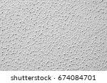seamless plain white painted...   Shutterstock . vector #674084701