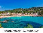 sea landscape llafranc near... | Shutterstock . vector #674086669