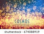 cosmos. space vector background ... | Shutterstock .eps vector #674088919