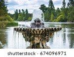 london  italian garden with...   Shutterstock . vector #674096971